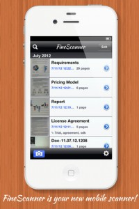 FineScanner App for iPhone