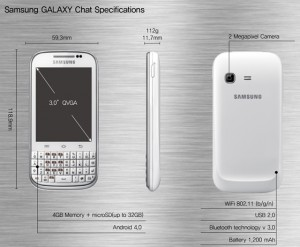 Samsung Galaxy Chat Specs