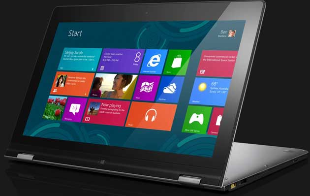 Lenovo IdeaPad Yoga Windows 8 tab