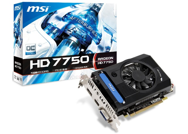 MSI Radeon HD 7750 OC V2: Specs & Feature