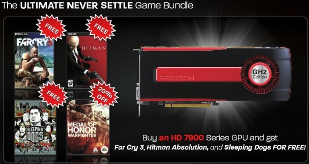 AMD gives games packs of up to $170 with its Radeon HD 7000 Graphics Card