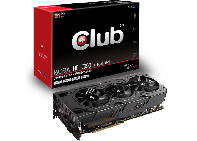 Club3D Radeon HD 7990 graphics card: Specs & Features