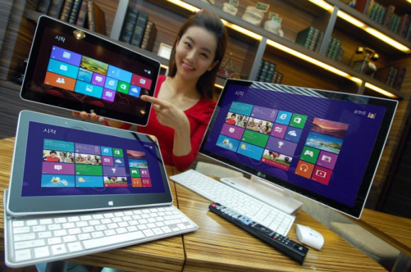 LG H160 Hybrid Tablet and LG V325 All-in-One PC