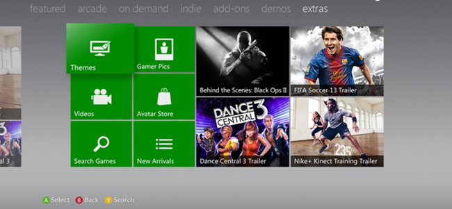Xbox 360 has got a new interface and Internet Explorer
