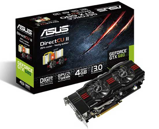 ASUS DirectCU II GeForce GTX 680 Graphics Card: Specs & Features