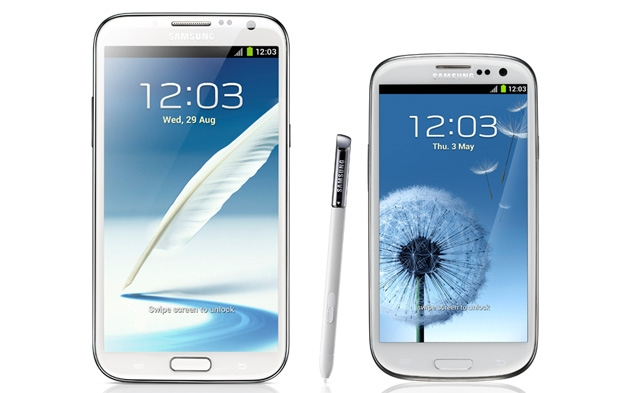 Comparison of Samsung Galaxy Note II vs. Galaxy S III