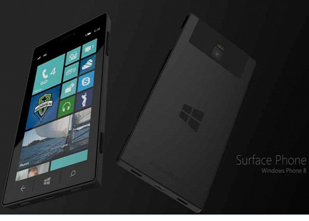 Microsoft Surface Phone in hand path of Foxconn