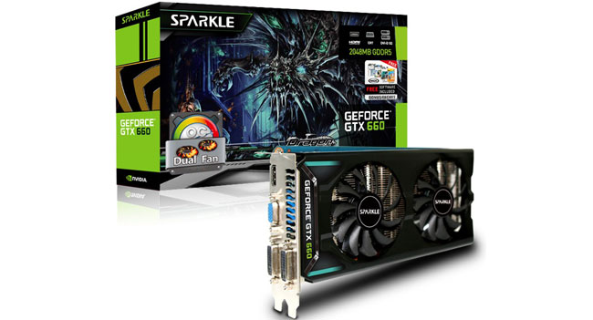 Sparkle GTX 660 OC, GTX 650Ti SOC, GTX 650Ti OC Graphics Card with Dual-Fan: Specs & Features