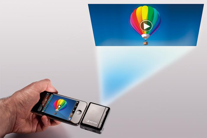 How to Turn your iPhone into a Projector using MobileCinema Aiptek i20