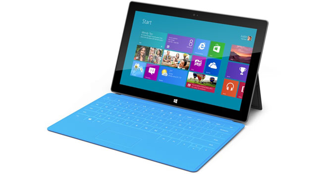 Microsoft has reduced its orders for Surface RT tablet components