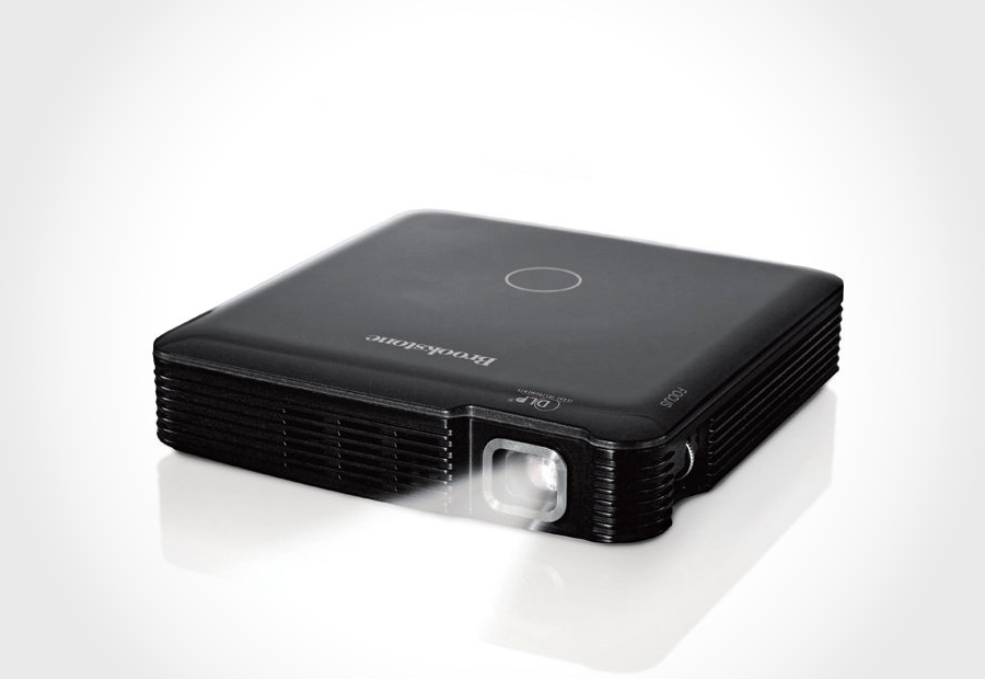 Brookstone s pocket projector review specs price for Pocket projector price