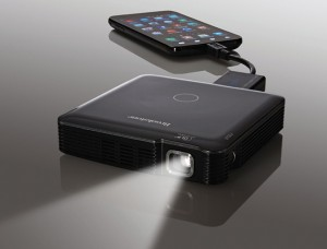 Brookstone's Pocket Projector
