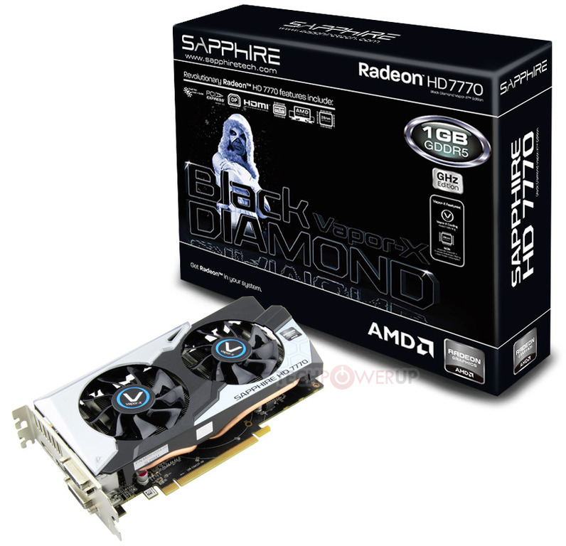Sapphire Launches Vapor-X Black Diamond Version of the Radeon HD 7770