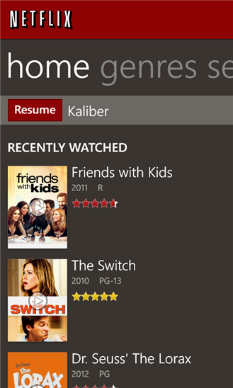 Netflix Windows Phone 8 app now supports 720p displays