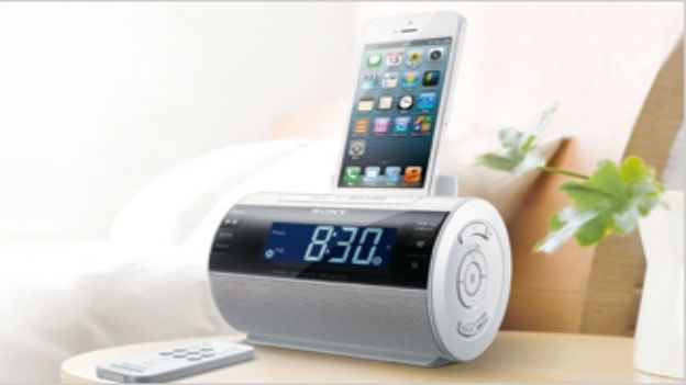 Sony's new Lightning-friendly speaker dock SRS-GC11IP with alarm clock and radio