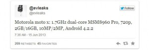 Motorola X Smartphone Specifications Confirmed