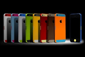 iPhone with colors
