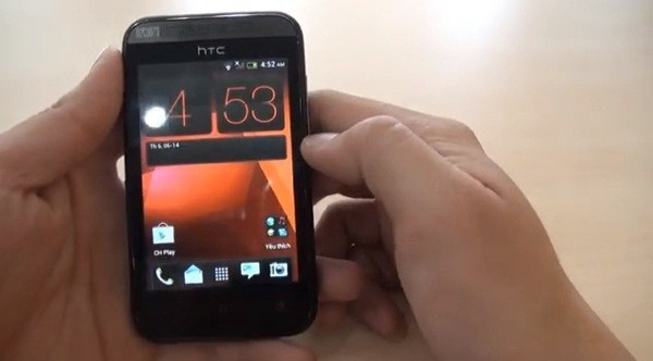 "Unannounced HTC Desire 200 ""lit up"" in the photo and video"