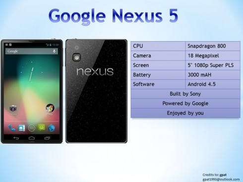 Nexus 5 debut speculations: When will be the official announcement? What will be the specs