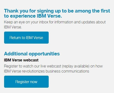 IBM verse email sign in process