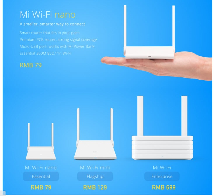 Mi Wi-Fi Nano – Another Gem from the Xiaomi family