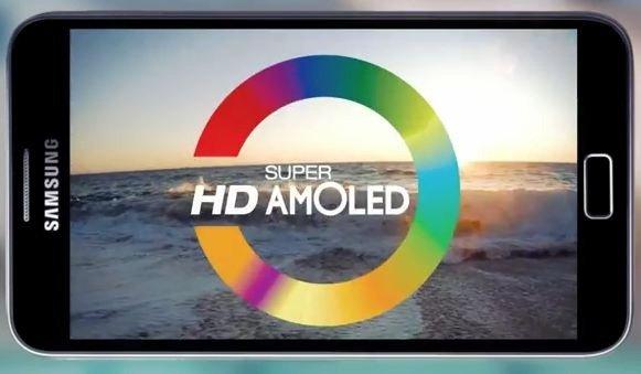 Samsung 350 ppi AMOLED screen