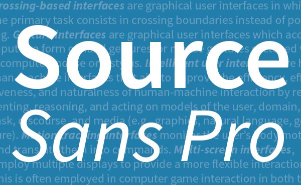 Sans Pro Source