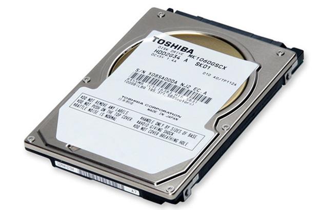 Toshiba 10,500 RPM hard drive