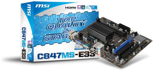 MSI-C847MS-E33 Motherboard (source:milestone-net.co.jp)